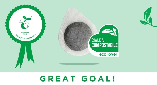The 100% compostable pod